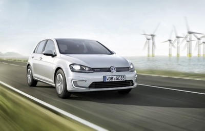 Volkswagen E-Golf and E-up! Debut at Frankfurt.