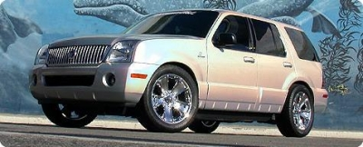 Supercharged Mercury Mountaineer | A speedy silver streak.