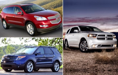 Chevrolet Traverse vs. Dodge Durango vs. Ford Explorer.