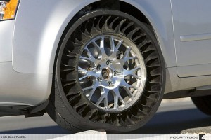 Future Tire is a Tweel | Tired of checking your tires for air? No problem!