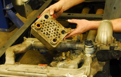 Coolant Filter Install | Ford Diesel Engine.